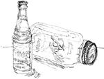 returnable soda pop bottle
