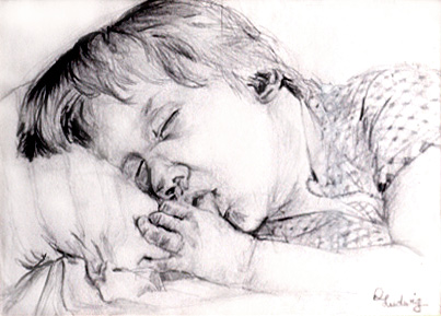 drawing boy sleeping