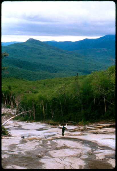 hiker praising the creator and creation in Adirondacks